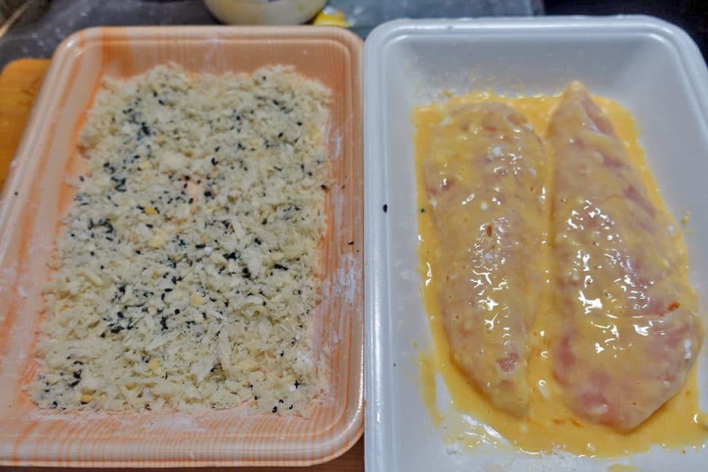 トースターでつくる「鶏ササミの低温パン粉焼き」レシピ