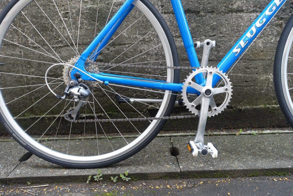 【自転車DIY】Bridgestone(ブリジストン)のアルミロード「Slugger」を街乗りコミューター仕様にカスタム