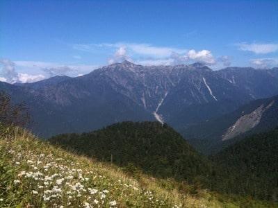 焼岳からみた笠ヶ岳